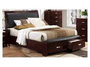 Lyric Queen Size Storage Bed in Dark Cherry by Homelegance