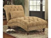 Golden Toned Accent Chaise with Elegant Traditional Style by Coaster