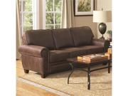 Elegant and Rustic Family Room Sofa in Brown by Coaster
