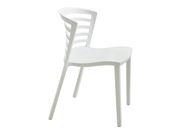Entourage Stack Chair White Set of 4 by Safco