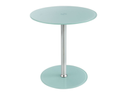 Glass Accent Table - White In White By Safco