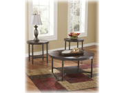 Occasional Table Set in Rustic Brown - Signature Design by Ashley Furniture (Set of 3)