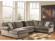 Gray Upholstery Sectional with Right Facing Sofa