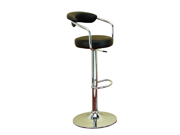 Chrom Vinyl Bar Chair For Ultimate Comfort by Benzara