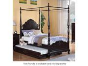 Cinderella Collection Twin Canopy Poster Bed in Dark Cherry in Homelegance