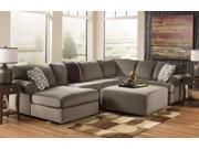Upholstery Sectional with Left Facing Sofa and Oversized Accent Ottoman