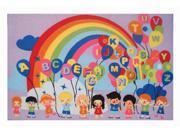 Fun Time Educational Balloons 19 In. X 29 In. Kids Rug