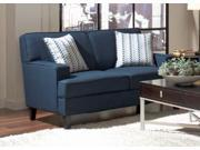 Finley Collection Contemporary Loveseat in Dark Blue by Coaster