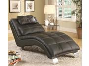 Contemporary Living Room Chaise with Sophisticated Modern Look in Black by Coaster
