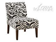 Aberly Accent Chair in Zebra Pattern by Acme Furniture