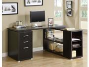 Cappuccino Hollow-Core Left Or Right Facing Corner Desk by Monarch