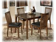 Rectangular Dining Room Table Set in Medium Brown - Signature Design by Ashley Furniture (Set of 5)