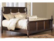 Queen Size Bed In Rich Dark Brown