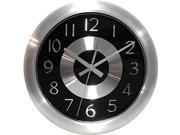 MERCURY BLACK WALL CLOCK BY INFINITY