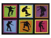 """Skateboarding Fun 19"""""""" x 29"""""""" Rug"""" 9SIABFA49Y2942"""
