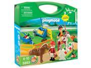 (NEW) Playmobil Pony Farm Carrying Case Playset