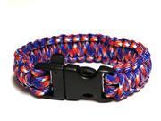 Survival Bracelet w/Whistle - Red/Whte/B
