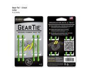 Gear Tie 3in 4pk - Lime