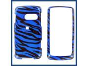 LG LN510 (Rumor Touch) 2D Zebra on Blue Protective Case