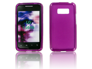 LG LS696 (Optimus Elite) Crystal Purple Skin Case
