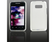 LG LS696 (Optimus Elite) Crystal Clear White Skin Case