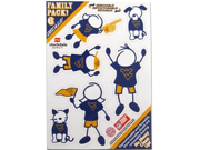 West Virginia Mountaineers Family Decal Auto Pack Small 5 x 7