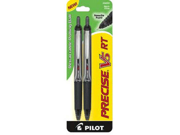 Pilot Precise V5 RT Rollerball Pen  - Black Ink - Black Barrel - 1 / Pack