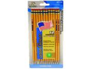 Write DudesUSA Gold Series #2 Pencils, Cedar, Yellow, Sharpened, Dozen