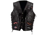rock genuine buffalo leather vest