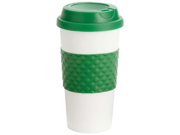 Wyndham House 16oz Tumbler with Green Wrap and Lid