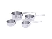 Chef 's Secret  4pc T304 Stainless Steel Measuring Cup Set