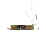 Genuine India Stag Bone 2 Blade Peanut