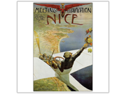 Meeting Aviation Nice BY Charles Brosse.-Framed 18x24