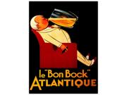Le Bon Bock Framed 24x32 Canvas Art