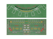 Blackjack and Craps 2 Sided Layout 36 x 72 inch 9SIA0YM0M80375