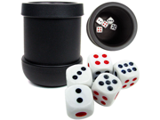 Black Heavy Duty Dice Cup with 5 Dice 9SIA0YM0M80581