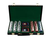 300 11.5G Holdem Poker Chip Set with Black Vinyl Case