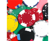 Assorted Poker Chips with Imperfections