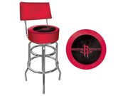 Houston Rockets NBA Padded Swivel Bar Stool with Back