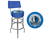 Dallas Mavericks NBA Padded Swivel Bar Stool with Back