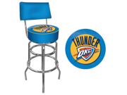 Oklahoma City Thunder NBA Padded Swivel Bar Stool with Back