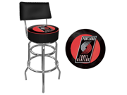 Portland Trail Blazers NBA Padded Swivel Bar Stool with Back