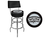 San Antonio Spurs NBA Padded Swivel Bar Stool with Back