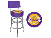 Los Angeles Lakers NBA Padded Swivel Bar Stool with Back