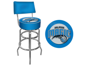 Orlando Magic NBA Padded Swivel Bar Stool with Back