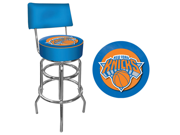 New York Knicks NBA Padded Swivel Bar Stool with Back