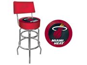 Miami Heat NBA Padded Swivel Bar Stool with Back