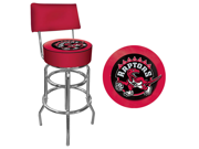 Toronto Raptors NBA Padded Swivel Bar Stool with Back