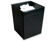 A1003 9 1/2 x 9 1/2 x 12 Waste Basket Top-grain Black Leather 9SIA00Y18F3432