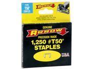 """1/2"""" Staples for Arrow Model T50 Staple Gun - 1250 pk"""